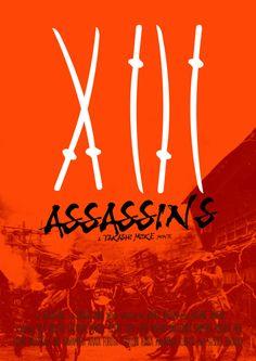 13 Assassins (2010) ~ Alternative Movie Poster by Joel Amat Guell #amusementphile