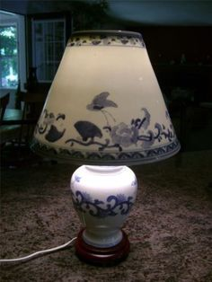 Hollywood regency pagoda lamp oriental lamp with fiberglass shade very unique and beautiful oriental bell jar lamp with full ceramic shade ebay aloadofball Images