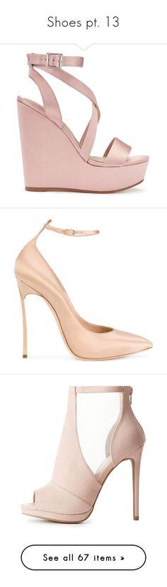 """Shoes pt. 13"" by asia-syso ❤ liked on Polyvore featuring shoes, sandals, wedges, heels, nude, nude high heel shoes, high heel wedge sandals, heeled sandals, high heel shoes and nude heeled sandals"