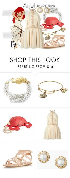 """""""Ariel"""" by leslieakay ❤ liked on Polyvore featuring West Coast Jewelry, Alex and Ani, Betsey Johnson, Jay Ahr, Dorothy Perkins, Talbots, disney, disneybound and disneycharacter"""