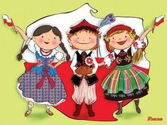 Free Jigsaws, Learn Polish, Zumba Kids, Polish Language, Polish Folk Art, Puzzle Games For Kids, Jw Gifts, National Symbols, Folk Dance
