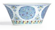A doucai 'fruit' medallion bowl, seal mark and period of Qianlong '1736-1795)