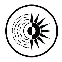 Brightness symbol in combination of sun and moon