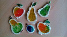 Ovoce zdobené barevnými sklíčky