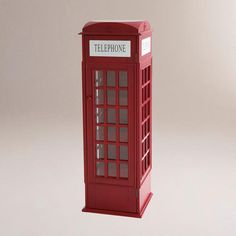this is bigger than the other one I pinned...One of my favorite discoveries at WorldMarket.com: Phone Booth Cabinet