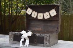 Rustic Wooden Card Box Rustic Wedding Card by SgtPeppersHeartsClub, $70.00