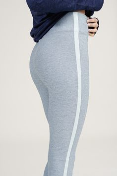 The Side Stripe Pant in Slate & Mint from Outdoor Voices. Activewear. Click on the link above and shop now.