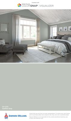I found this color with ColorSnap® Visualizer for iPhone by Sherwin-Williams: Comfort Gray (SW 6205).