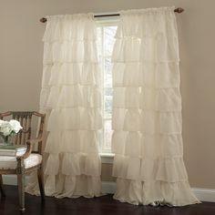 $23 each Shabby Chic Curtains - Gypsy Ruffled Window Curtains
