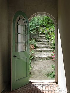 Arched Doorway to Quiet Garden - This is just a stock photo, but isn't it lovely?... This is really beautiful...