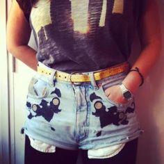 DIY jeans refashion: Baroque Jeans DIY