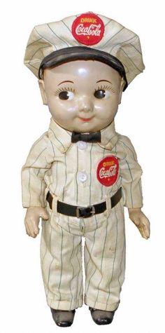 Coca Cola He looks a lot like my Buddy Lee doll! Vintage Coke, Vintage Dolls, Coca Cola Addiction, Coca Cola Decor, Coca Cola Kitchen, Always Coca Cola, Pepsi Cola, Vintage Advertisements, Coco