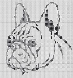 French Bulldog Silhouette Small Cross Stitch by TheSoftScientist