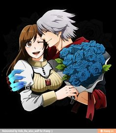 Kyrie and Nero, Devil May Cry 4 artwork by Mackerel (Artist). Nero Dmc, Dante Devil May Cry, Manga Anime, Couples Comics, Dmc 5, Fanart, Dark Souls, Rwby, Funny Cute