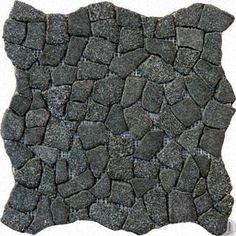 Charcoal Flat Pebble Cracked Joints Pattern Granite Mosaic Tiles
