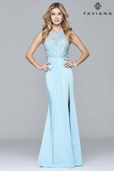 Faviana Glamour S7955  Faviana Glamour Prom, Bridal, Bridesmaid, Pageant, & Special Occasion Gowns- WWW.PROMUSA.BIZ