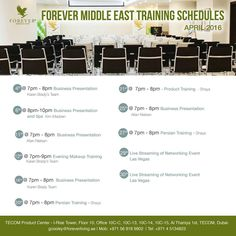 TECOM TRAINING SCHEDULE  of the month APRIL 2016