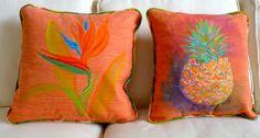 original designs, custom hand painted pillows created in Virginia Beach, VA  ~ vabeachpillows@gmail.com