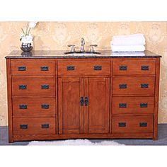 Legion Furniture Granite Top 60-inch Single Sink Bathroom Vanity