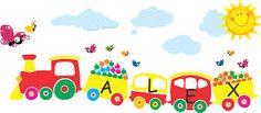 trenes dibujados en la pared - Buscar con Google