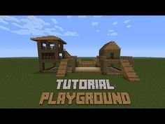 Minecraft - How to build a Playground - Tutorial Minecraft Shops, Minecraft Cheats, Minecraft Banners, Minecraft Plans, Minecraft Funny, Minecraft Videos, Amazing Minecraft, Minecraft Tutorial, Minecraft Blueprints