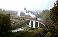 The 'Golden Plover' passes through Perth in Old Photographs, Old Photos, Golden Plover, Perth Scotland, Take The High Road, British Rail, Tile Ideas, Trains, Age