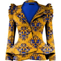 Latest Trendy Ankara Jackets And Blazers Styles African Blouses, African Tops, African Dresses For Women, African Attire, African Wear, African Women, African Style, African Inspired Fashion, Latest African Fashion Dresses