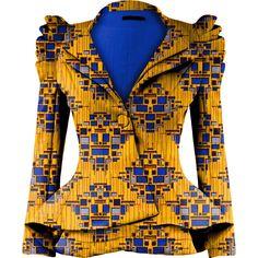 Ankara Fashions- Udeh Rouched Blazer-3 – shopqueencouture.com