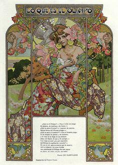 Art Nouveau Mucha, Art Nouveau Poster, Art Deco Artwork, Cool Artwork, Vintage French Posters, Vintage Art, Art Eras, Art Nouveau Illustration, Name Art
