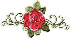 Free Embroidery Design: Rose