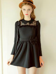 tulle lace princess dress $62 #asianicandy #falldress #indiefashion