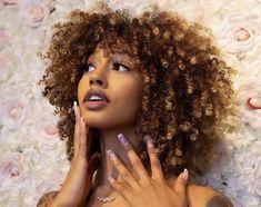Trending Hairstyles, Afro Hairstyles, Dye My Hair, New Hair, Natural Hair Highlights, Blonde Afro, Curly Hair Styles, Natural Hair Styles, Colored Curly Hair