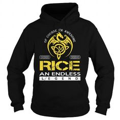 RICE An Endless Legend (Dragon) - Last Name, Surname T-Shirt T-Shirts, Hoodies (39.99$ ==► Order Here!)