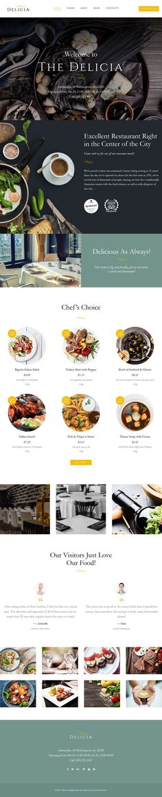 The Delicia WordPress Theme. Delicia is a premium WordPress theme from Template Monster. This is an ideal theme for Cafeteria and Restaurants