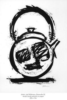 Artist: Joel Wilkinson. Size: 25h x 19w. Acrylic brush on paper.