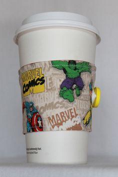 Marvel Comics Coffee Sleeve Cozy  Ready To Ship by SeaShellee, $4.00
