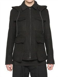 Ann Demeulemeester - Cotton Viscose Peach Cloth Jacket | FashionJug.com