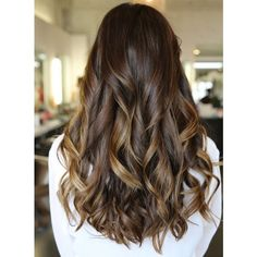 Top 20 Best Balayage Hairstyles for Natural Brown Black Hair Color ❤ liked on Polyvore featuring beauty products, haircare and hair color