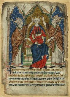 The poisoning of King John and coronation of King Henry III - The British Library