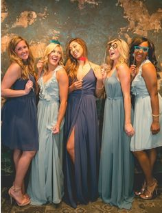 Beautiful in blue! Revelry has a variety of colors and styles so all of your bridesmaids are sure to look elegant.