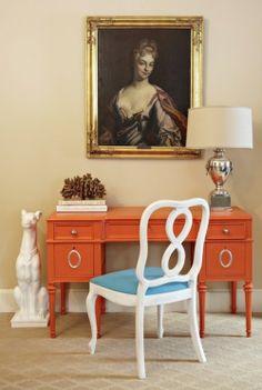 Moderne Inneneinrichtung mit Farbe - Orange als Haupt- und Akzentfarbe - http://wohnideenn.de/innendesign/10/moderne-inneneinrichtung-orange-farbe.html #Innendesign