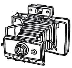 vintage polaroid camera linoleum block print - x wall art Camera Drawing, Ap Drawing, Vintage Polaroid Camera, Vintage Cameras, Camera Tattoos, Linoleum Block Printing, Old Cameras, Digi Stamps, Paper Size