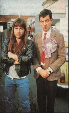 Bruce Dickinson and Mr. Bean