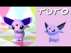 TUTO FIMO | Mentali / Espeon (de Pokémon Rumble World) - YouTube