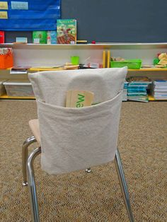 Teachers LOVE Me - Classroom Chair Book Pocket - DIY -Downloadable Instructions on Etsy, $4.50