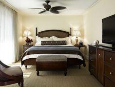 Classic room decor at the Vero Beach Hotel & Spa #brownandcream #kimpton #verobeach