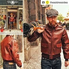 Buffalo Leather Jacket, Leather Flight Jacket, Leather Jacket Outfits, Bomber Jacket Men, Leather Fashion, Mens Fashion, Fashion Outfits, Rustic Outfits, Best Leather Jackets