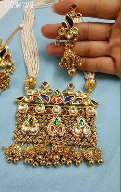 Trendy Jewelry, Simple Jewelry, Fashion Jewelry, Royal Jewelry, India Jewelry, Pendant Jewelry, Gemstone Jewelry, Gold Pendant, Rajputi Jewellery