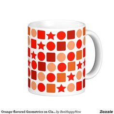 Orange-flavored Geometrics on Classic White Mug