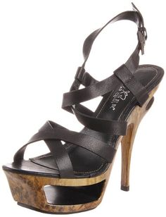Pleaser Womens Deluxe636BLE Platform SandalBlack Leather6 M US *** This is an Amazon Affiliate link. For more information, visit image link.